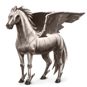 pegasus-reitpferd element metall